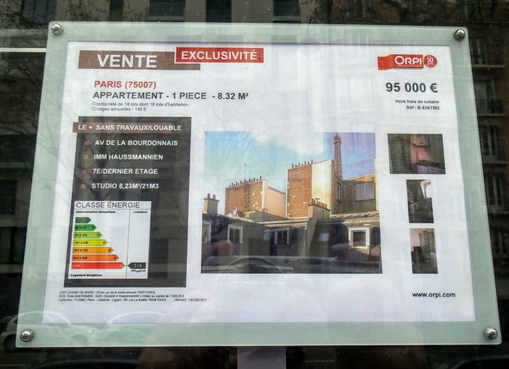8 square meters and energy class G. Just 95 000 Euros!