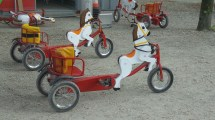 Tiny little bicycles that are like horse carts