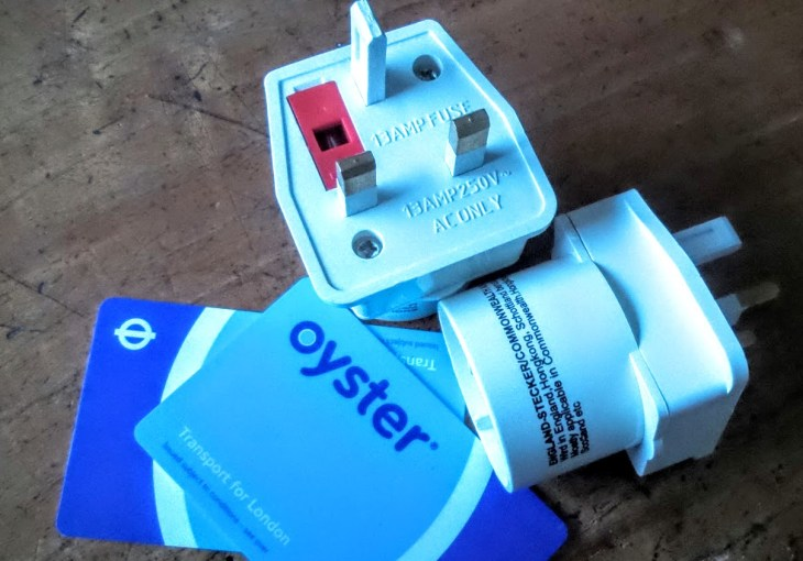 oyster card and adapters