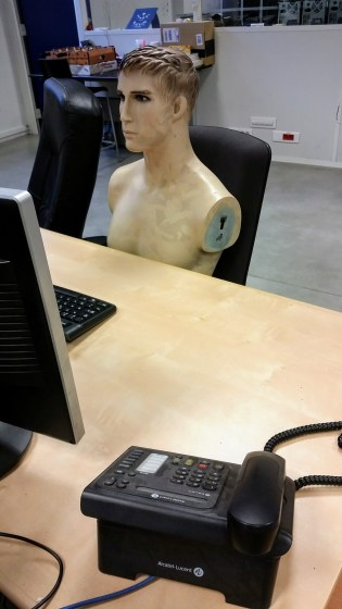 my new colleague. He's nice. Also doesn't talk much.