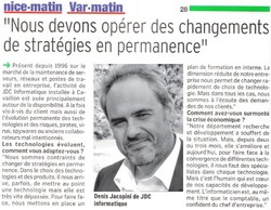 Article Nice Matin 2011 10 - Vignette