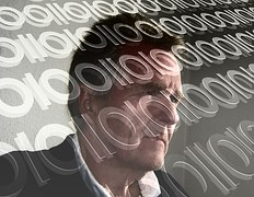 L'Homme, Face, At, Internet, Réseau
