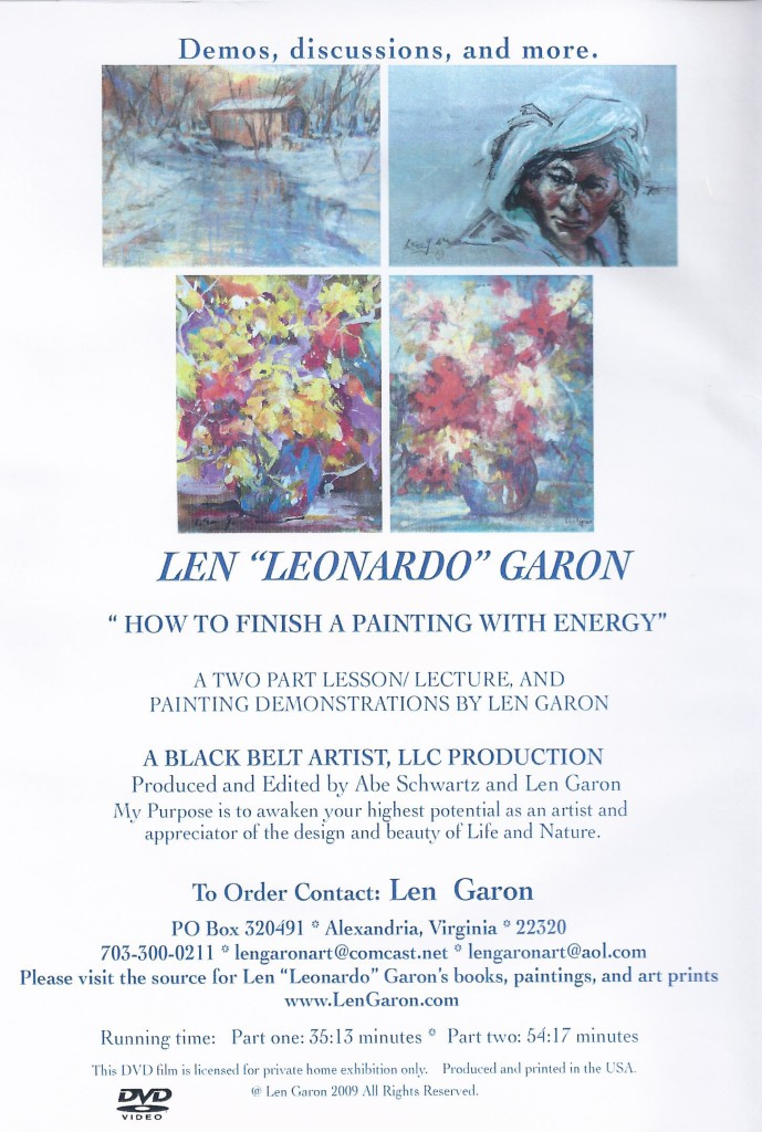 DVD #3 HOW TO FINISH A PAINTING  BACK COVER