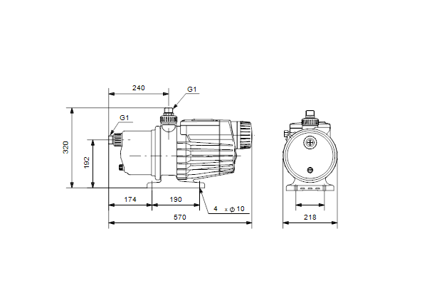 Grundfos pump: MQ3-35 B A-O-A-BVBP 1x230V 50Hz IT (96515412)