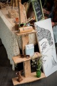 I was stoked to be able to showcase one of my furnishings along side her work.