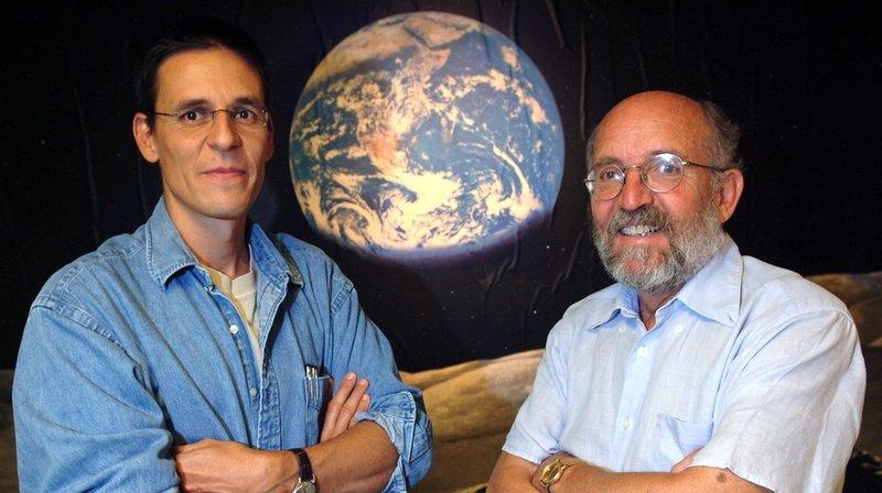 Didier Queloz et Michel Mayor, les deux astronomes genevois sur le toit du monde scientifique (archives).