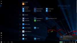 Obrazovka Start - tablet (všechny aplikace)