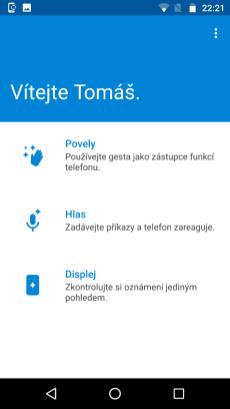 Menu aplikace