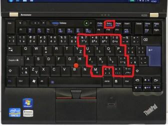 Numerický blok na ThinkPadu.