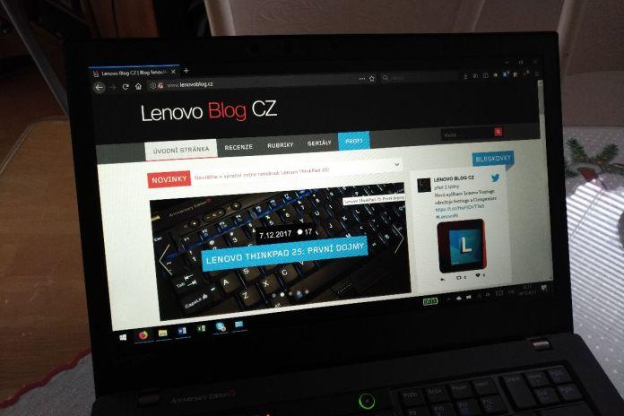 Lenovo ThinkPad 25 screen