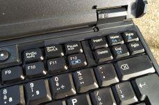 IBM ThinkPad A21e keyboard detail