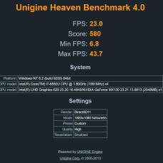 Unigine Heaven, benchmark grafické karty NVidia.