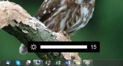 Indikace jasu ve Windows 7