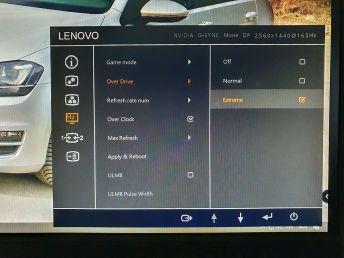 LCD Legion Y27gq-20 OSD13