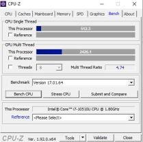 Lenovo Ideapad S540-CPUZbench2