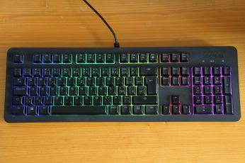 RGB podsvícení a rozložení klávesnice