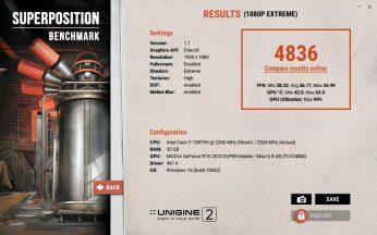 Lenovo Legion Creator 7 – Superposition Benchmark