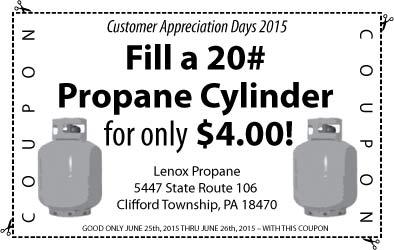 Lenox Propane Customer Appreciation Day 2015 Coupon