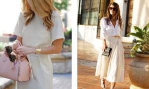 Krémová farba v outfite