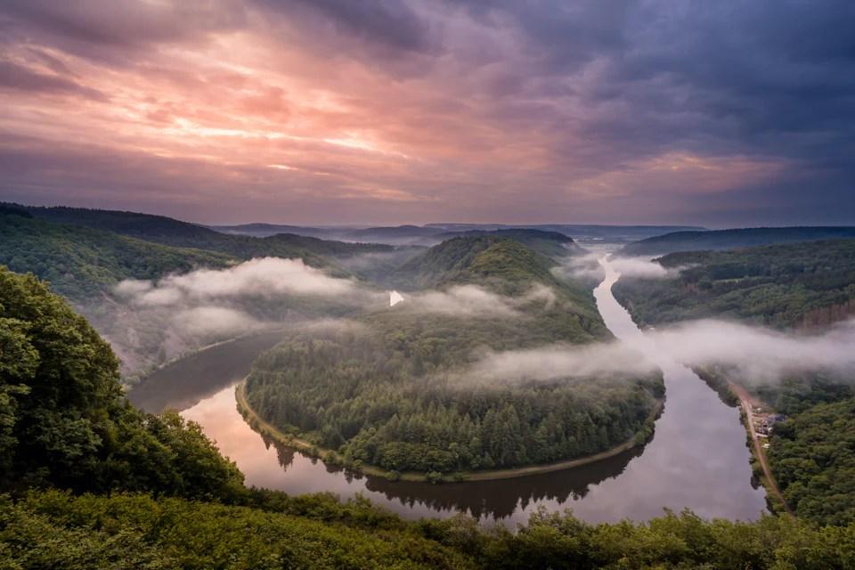 Saarschleife 2 - 9 Fotospots für atemberaubende Herbstfotos in Deutschland