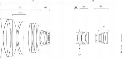 Patent of Canon CN-E 35-260mm f/2.8 L S Soft Focus Lens