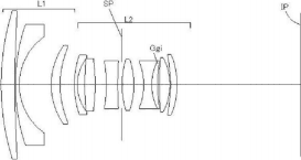Patent of 300mm f/4 IS, 24mm f/2.8, 50mm f/1.3 lenses