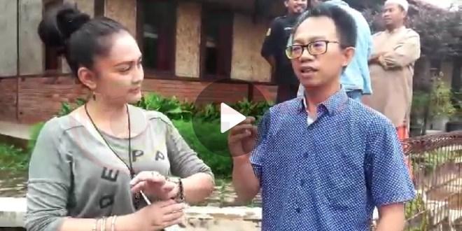 Ika Kartika Artis Tukang Ojek Pengkolan Kunjungi Desa Wisata Cihideung Udik Kabupaten Bogor