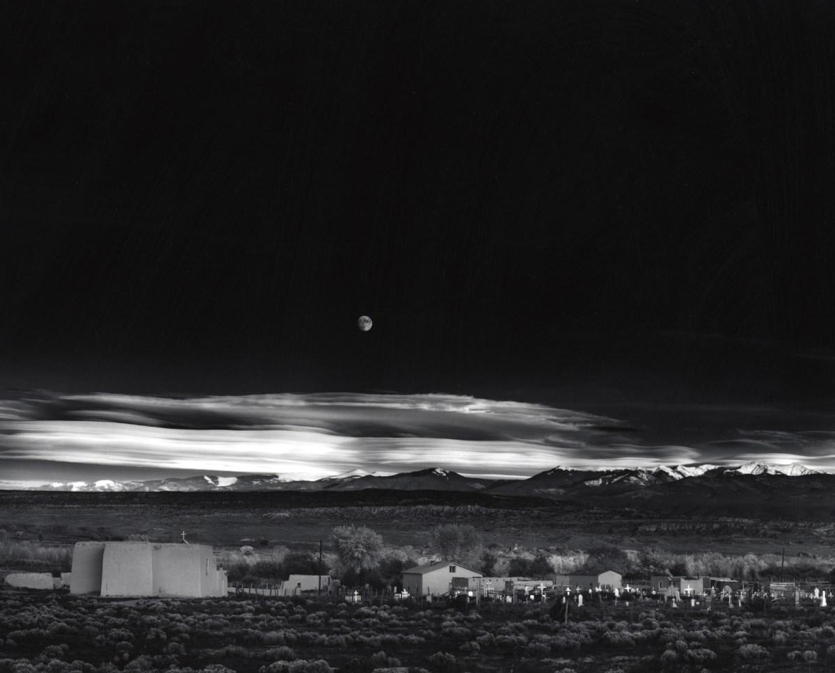 Ansel Adams Moonrise over Hernandez Fine Art Photo