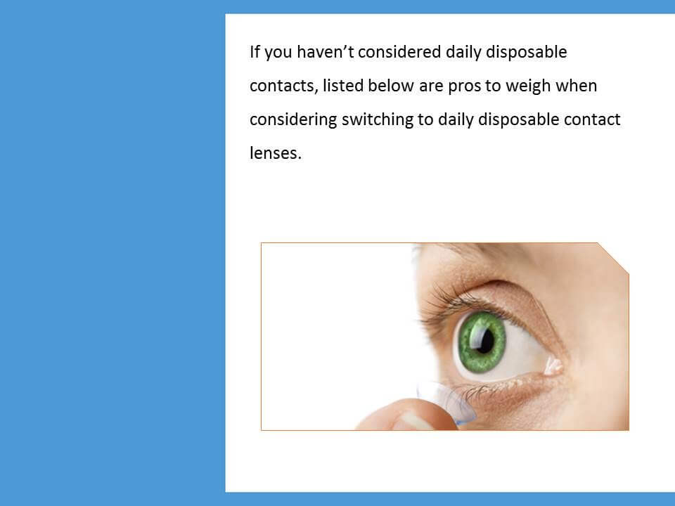 Daily Disposable Contact Lenses - Why To Choose - LensesOnline