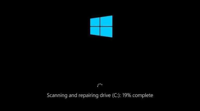 How To Solve Scanning and Repairing Drive Stuck On 10%