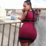 A Zambian girl trending on social media