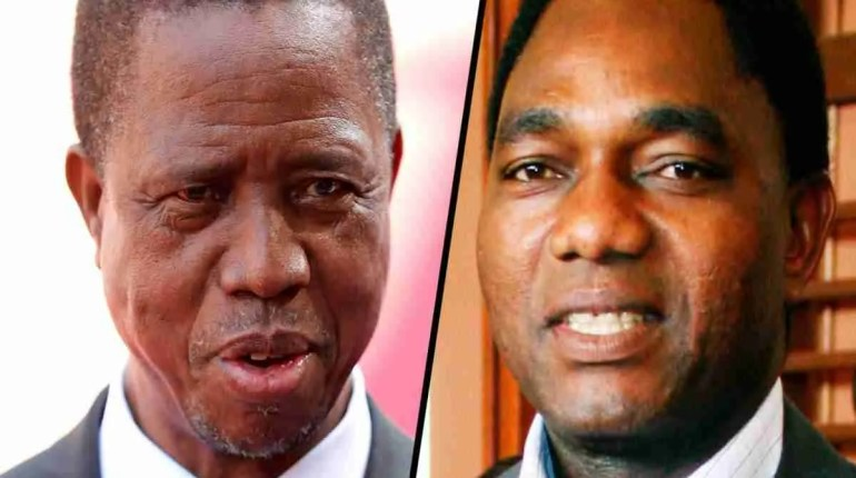 What is the choice for Presidential Candidates for the 2021 Zambia Elections