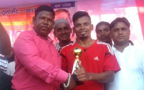 Shahid etwa oraon football tournament 2017-18 : international player scored five goals