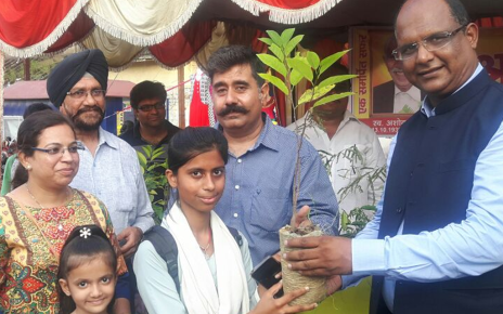 distribution of saplings of plants in memory of social worker  late Ashok Nagpal