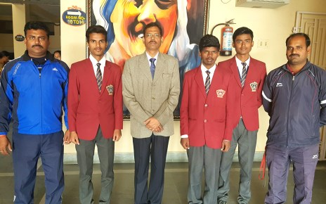 Students selected for national futsal game went to goa