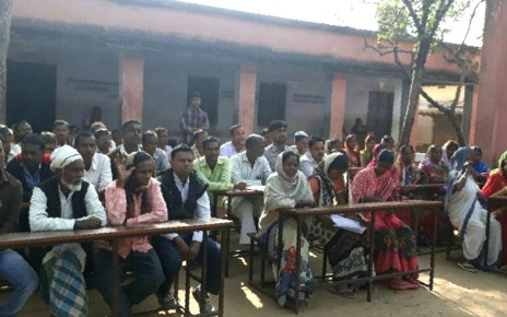 Meeting between teachers and parents at manjura middle school