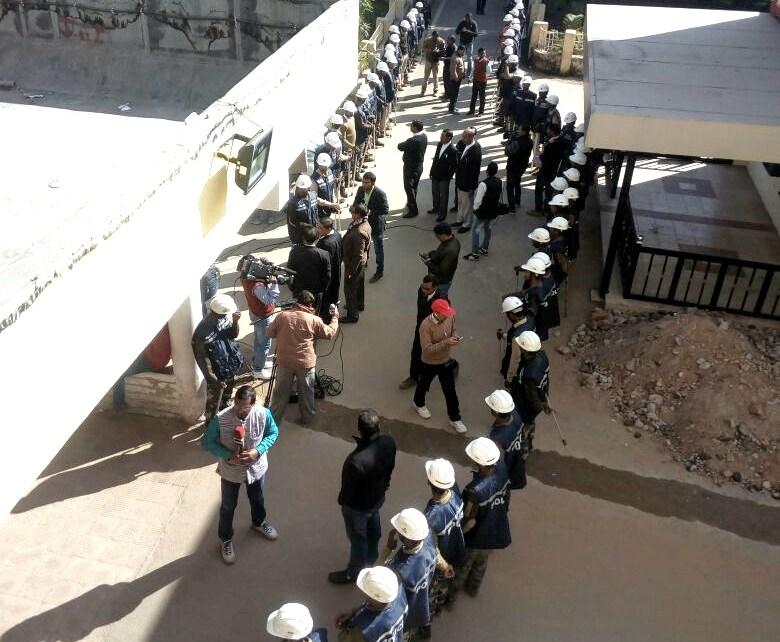 Lallu yadav will be sentenced today : heavy force deployed.
