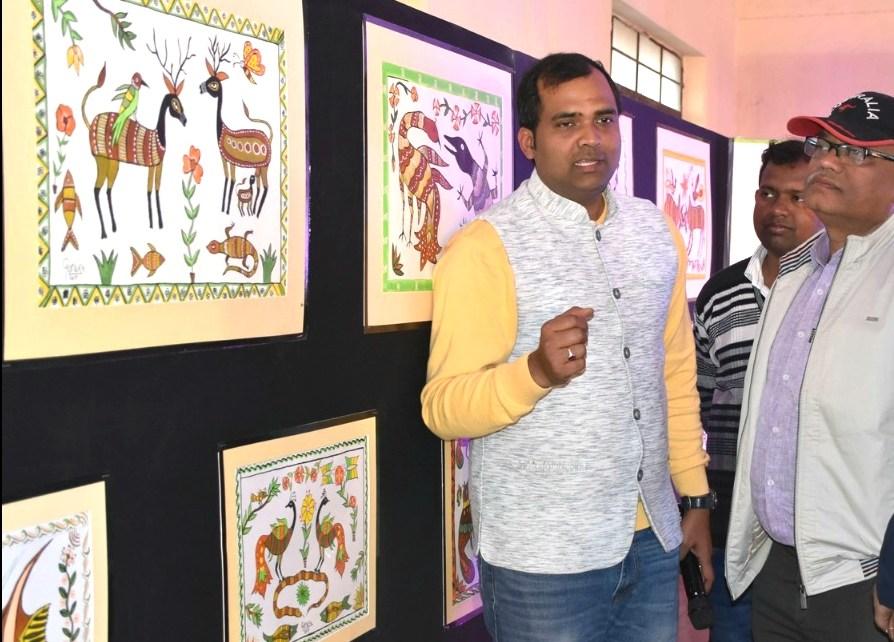 Inauguration of Three days training workshop sohrai painting