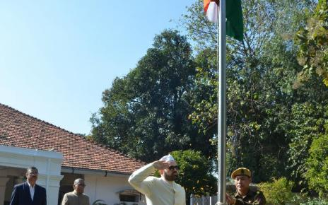 National flag hoisting by chief secretary, dr. D k tiwary