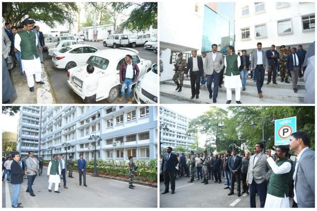 Cm hemant Soren inspected the Jharkhand mantralaya
