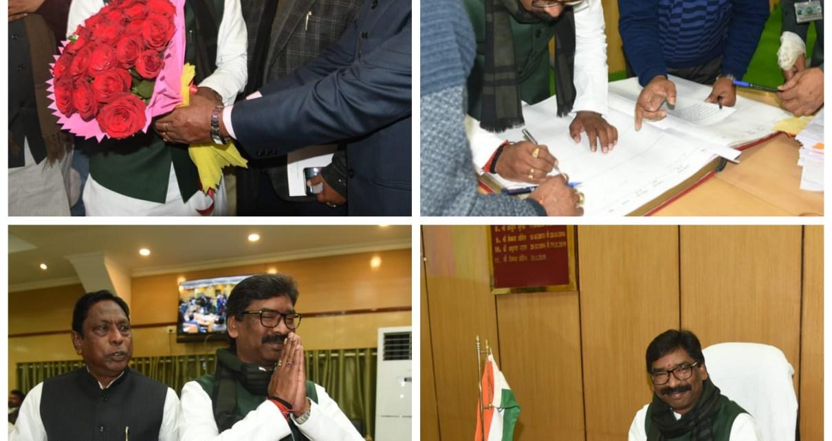Cm hemant Soren took the oath as member of Fifth vidhan sabha