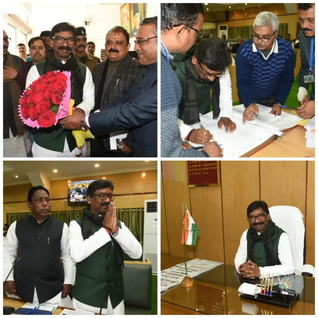 Cm hemant Soren took the oath as member of Fifth vidhan sabha