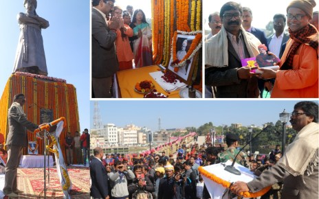 Cm jharkhand paid floral tributes to swami Vivekananda