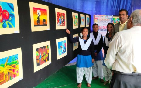 Inauguration of painting exhibition of the students trained by kalakriti
