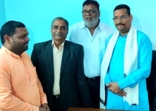 Vishwa brahman sabha felicitated newly appointed president of bjp Jharkhand
