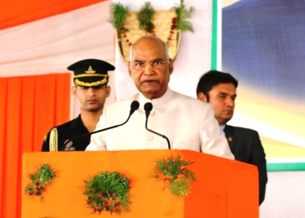 President ram nath kovind visited vikas bharti in bishunpur, gumla