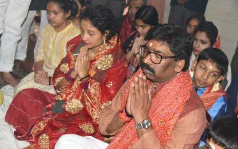 Cm Jharkhand worshipped in vidyanchal