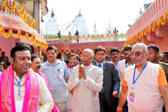 President ram nath kovind worshipped in baba mandir of deoghar