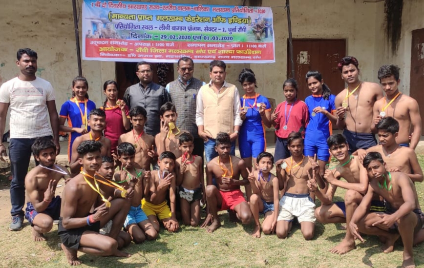 Seventh Jharkhand state level boys girls malkhamb competition concluded