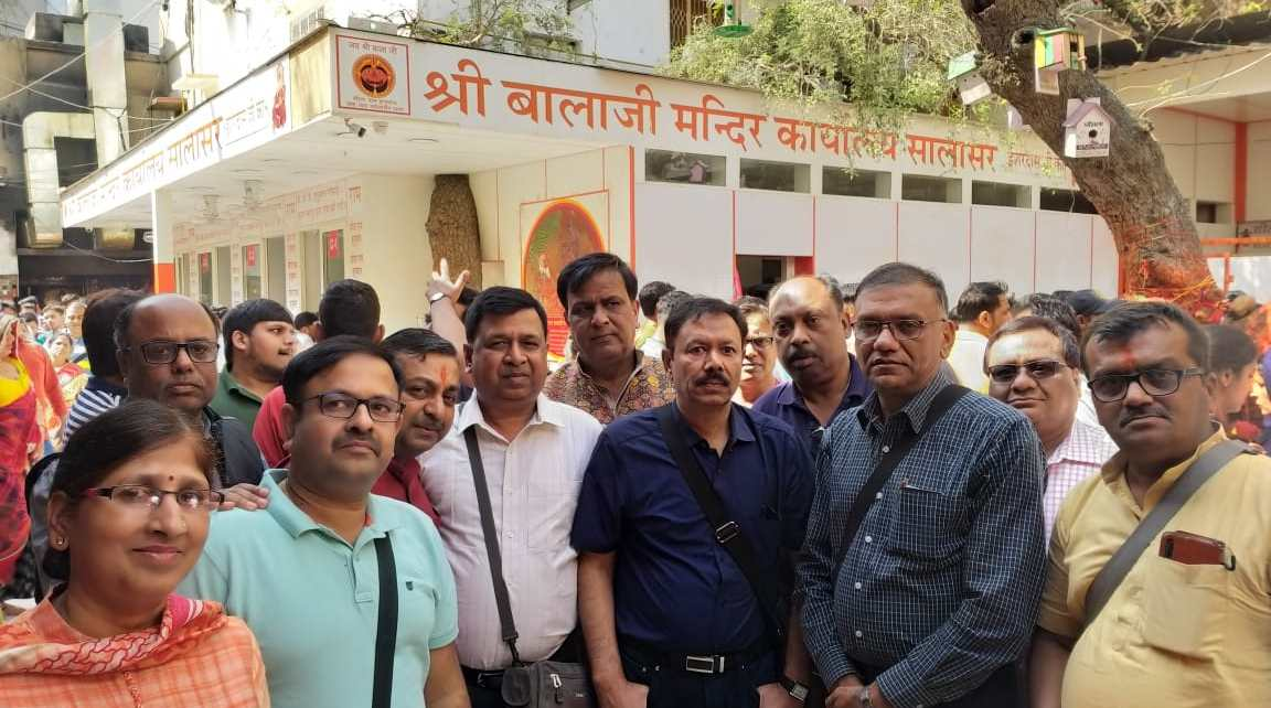 The delegation of sri shyam mandal reached salasar dham